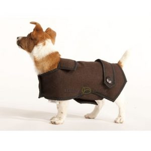 Casual Wool Dog Coat in brown to keep your dog warm and comfy in the winter