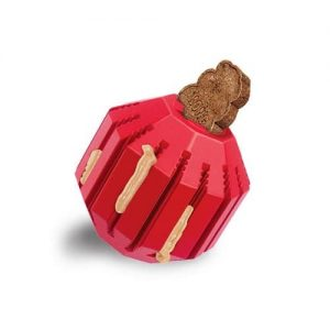 KONG Stuff Ball dog toy can be filled with your dogs favorite treat