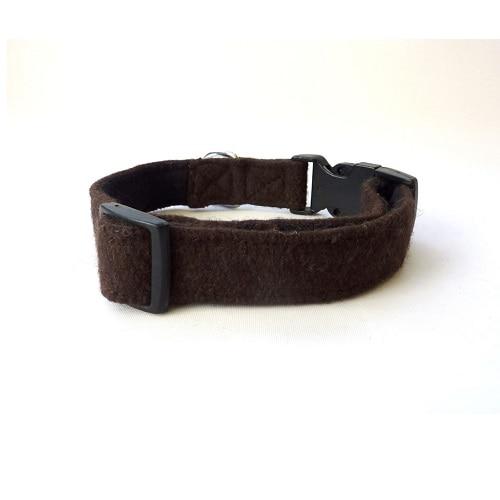 Soft Wool Dog Collar Brown Hailey and Oscar