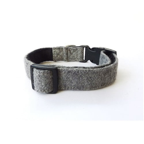 Soft Wool Dog Collar Grey Hailey and Oscar