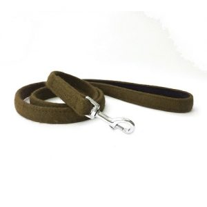 Soft Wool Dog Lead Khaki Green Hailey and Oscar