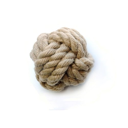 Tough ball dog toy large. Strong Rope toy.