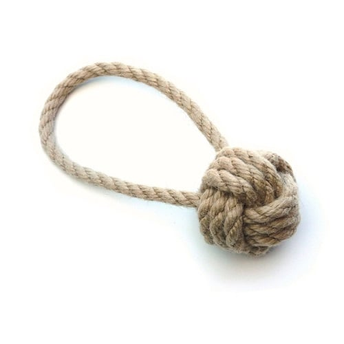 Tough ball dog toy small. Strong Rope toy.