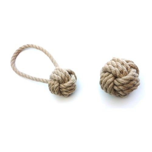 Tough ball dog toy. Strong Rope toy.