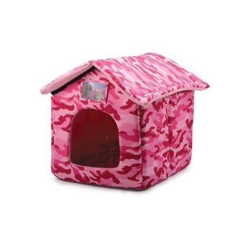 Cat House bed pink
