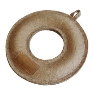 Dog ring toy. Made from eco friendly jute