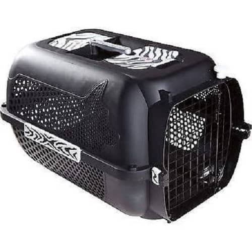 Pet Carriers for Cats. Hagen Catit voyageur style medium black with tiger design
