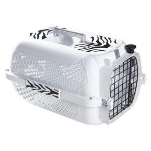 Pet Carriers for Cats. Hagen Catit voyageur style medium white with tiger design