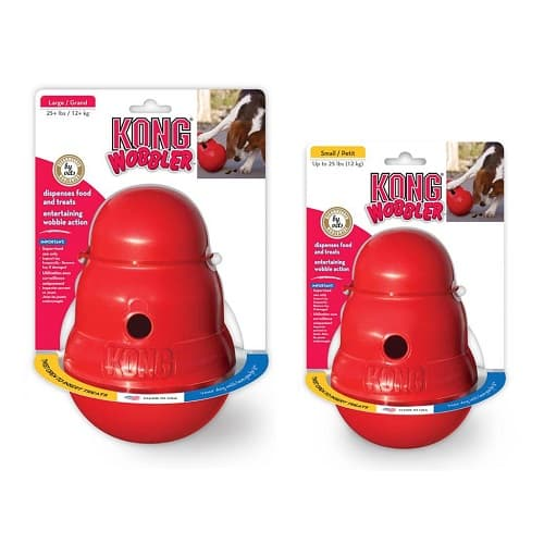 KONG Wobbler Dog toy and food feeder, small and large
