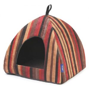 Pyramid Cat Bed Ancol. Stripey and snug.